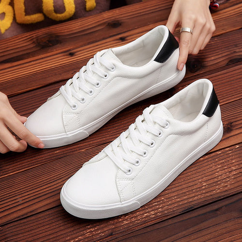 2019 Hot Men Shoes White Sneakers Men Casual Comfort Walking Shoes - 4allshoppers