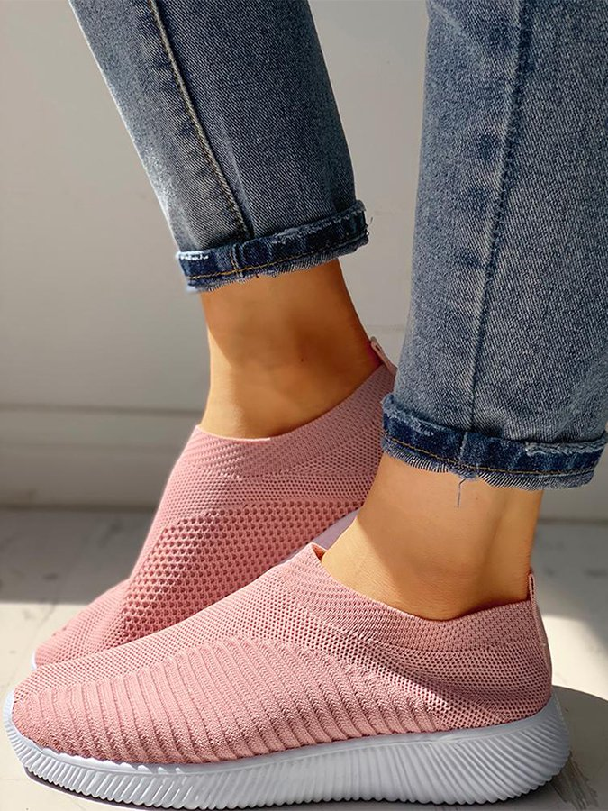 Mesh All Season Flat Heel Women's Shoes