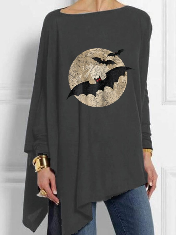 Animal Long Sleeve Cotton Shirts & Tops