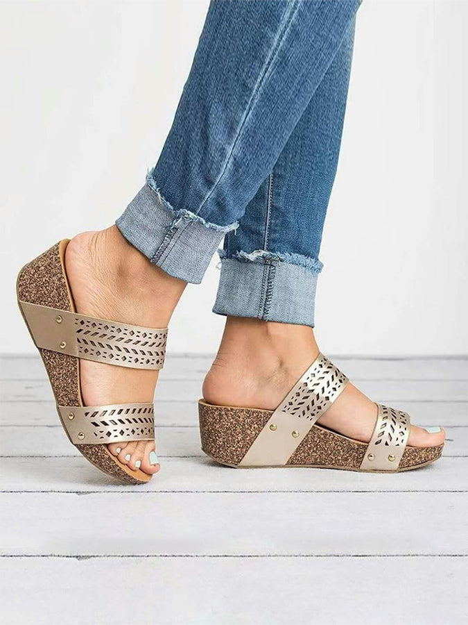 Spring/fall Wedge Heel Daily Slippers