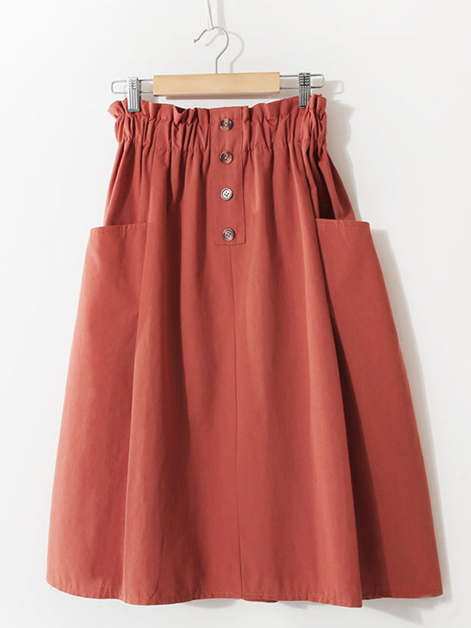 Holiday Solid Gathered Skirts