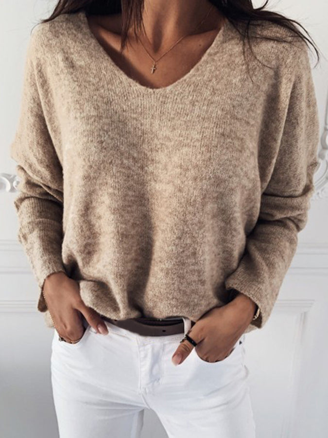 Long Sleeve Paneled Sweater