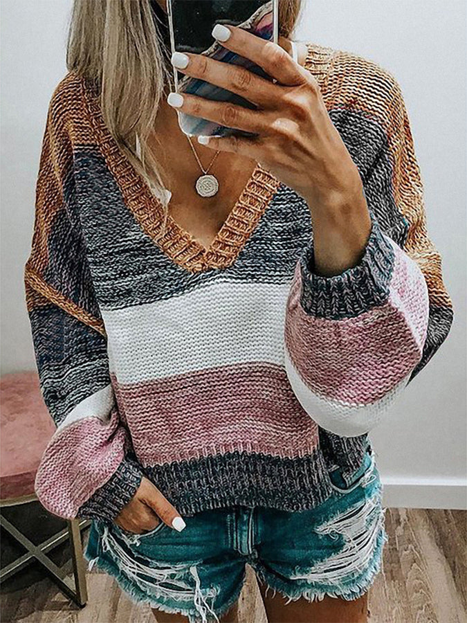 Shift Cotton-Blend Long Sleeve Casual Sweater