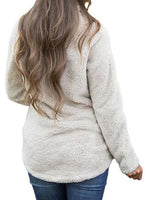 V neck Long Sleeve Solid Sweater