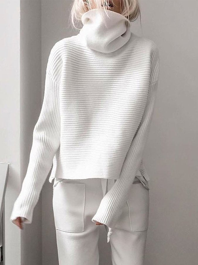 Plain Casual Shift Sweater