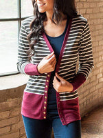 Long Sleeve Stripes Casual Sweater