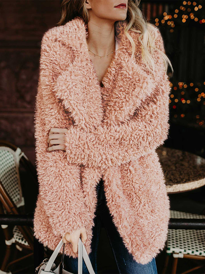Winter fashion Plush jacket Plush overcoat thermal jacket