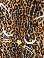 Long Sleeve Leopard Print Cotton Shirts & Tops