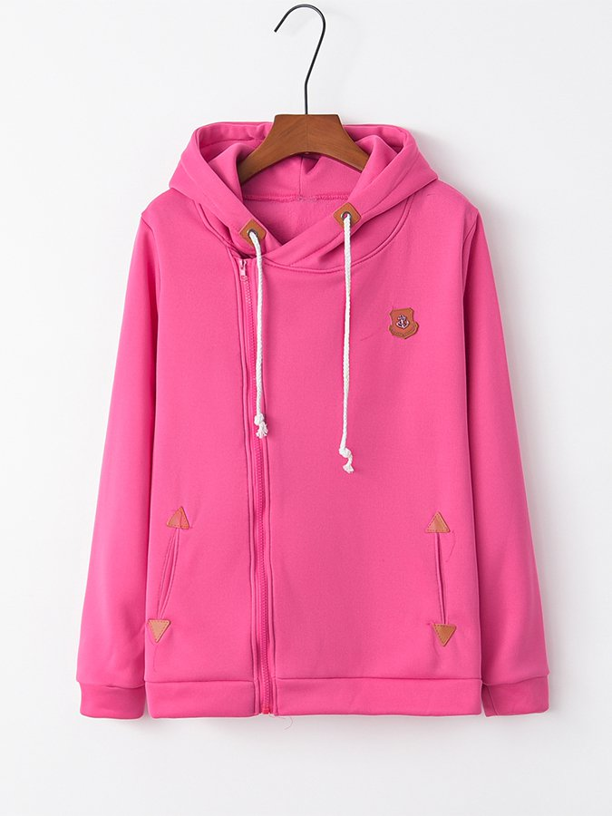 Casual Cotton Long Sleeve Hoodie Accessories