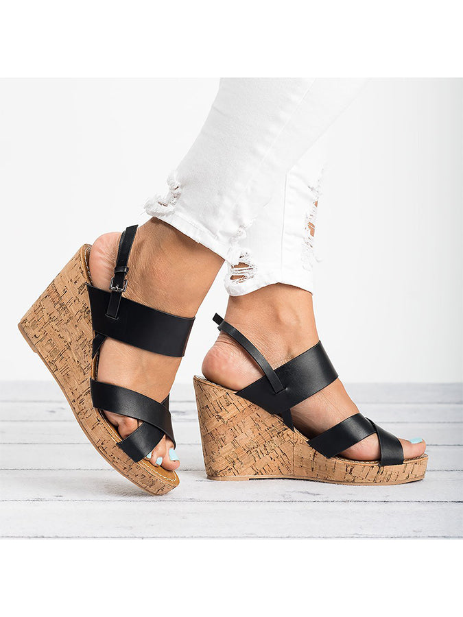 Adjustable Buckle Daily Chunky Heel Sandals