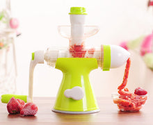 Manual Hand Press Slow Juicer And Ice Cream Maker