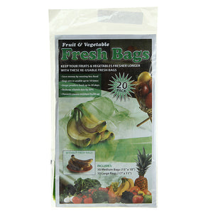 Fruit And Vegetable Reusable Life Extender Fresh Bags (20pcs )
