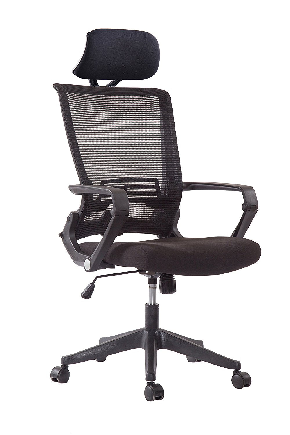 Ergo Hq Black Mesh Back Office Chair With Black Head Rest Black