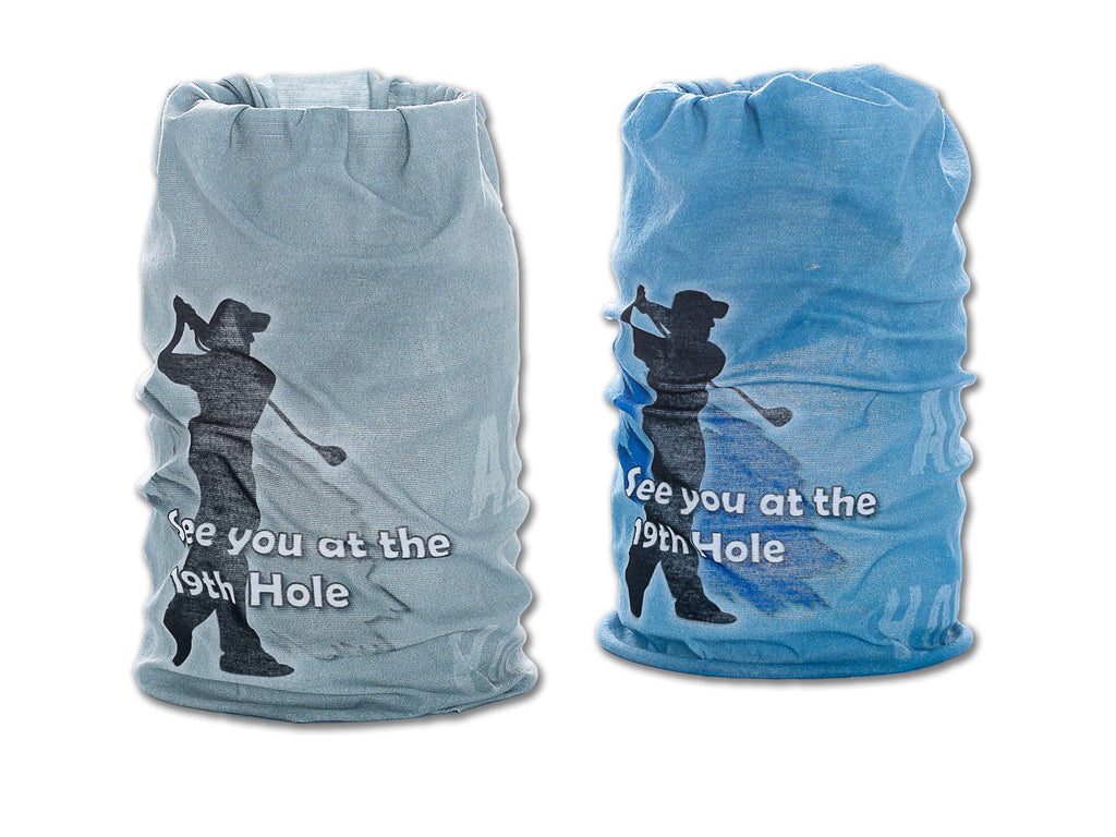 Grey Golfer & Blue Golfer Tubular Scarf (2 PACK)
