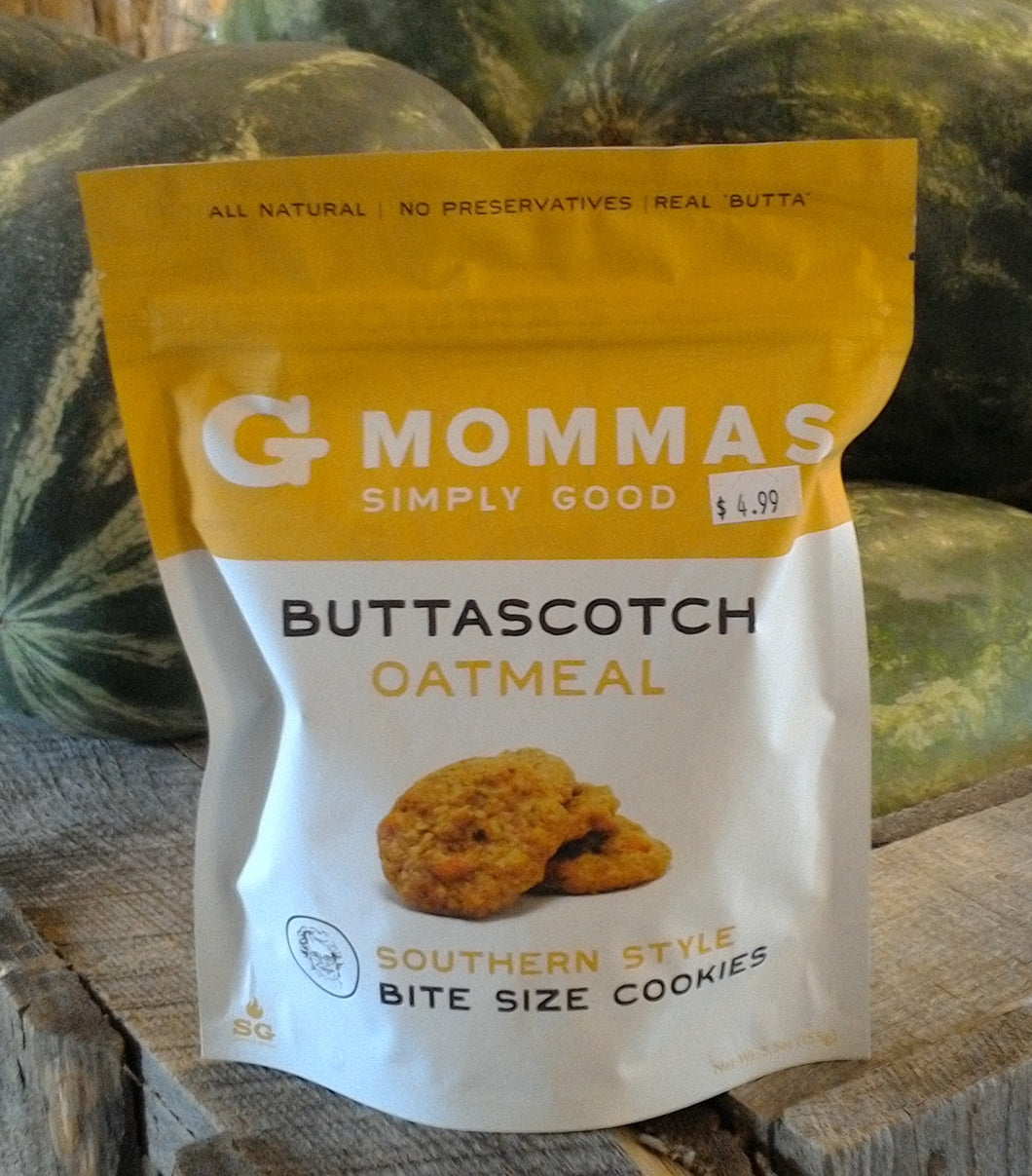 Buttascotch Oatmeal Southern Style Cookies