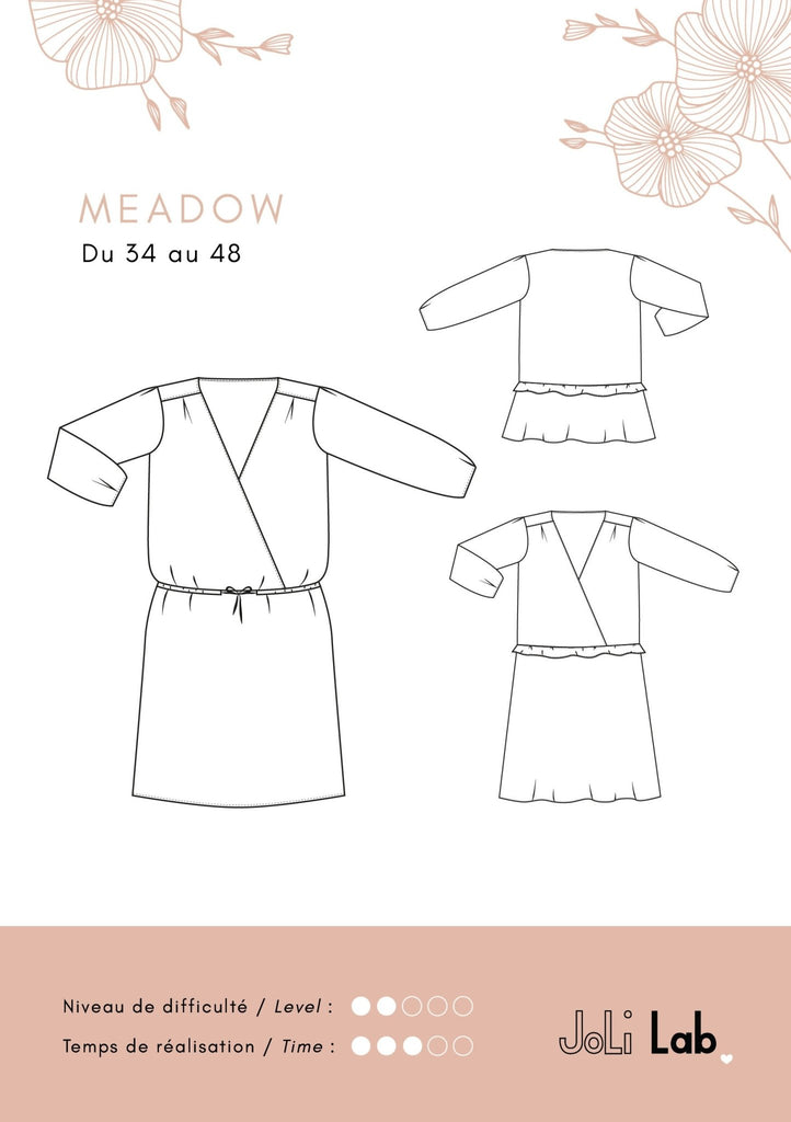 Robe/blouse Meadow - Patron PDF ou pochette - Joli Lab