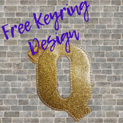Free In The Hoop Keyring Design - Q