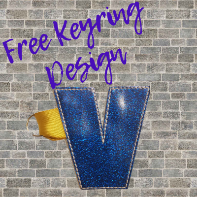 Free In The Hoop Keyring Design - V