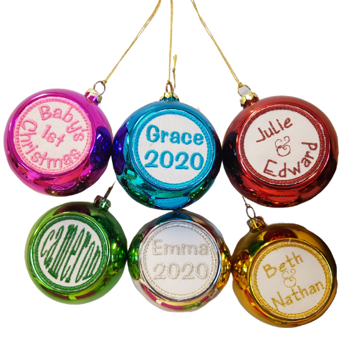 Embroidered Christmas Baubles