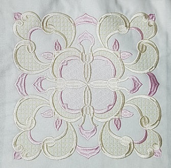 Free Peaches & Cream Embroidery Design