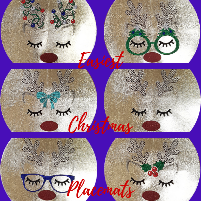 Quick & Easy Christmas Placemats