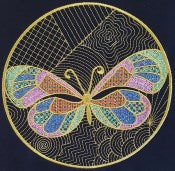 Free Butterfly Circles Design