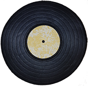 Free Vinyl Record Embroidery Design