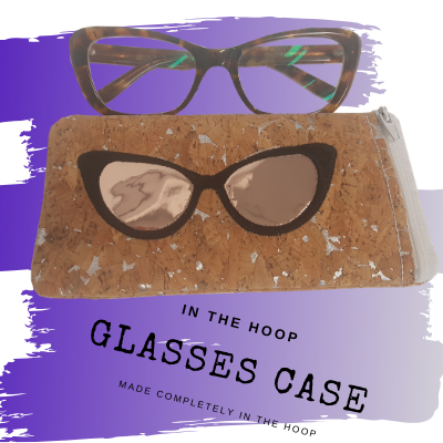 New In the Hoop Sunglasses Zippered Pouch Design