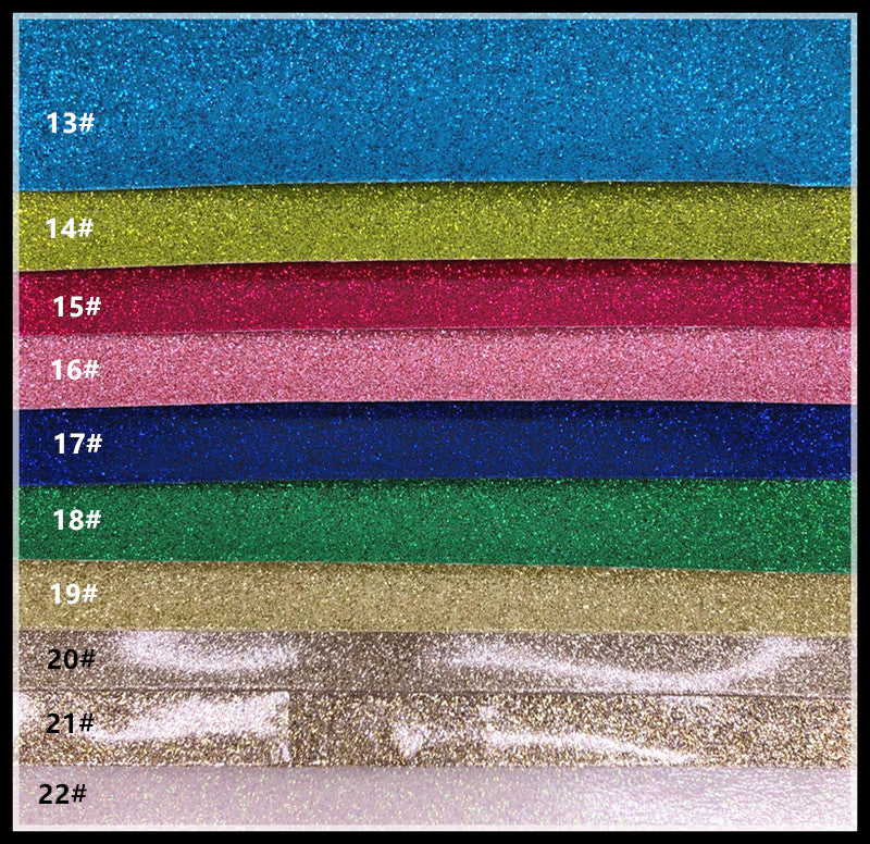 Glitter Vinyl for Embroidery - Multiple Colours