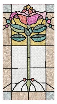 All That Glitters - Stained Glass Deco Rose