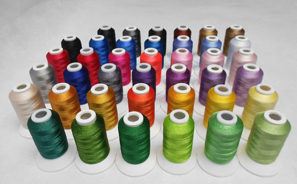 40 Colors Kits in Plastic Box Trilobal Polyester Thread for Machine Embroidery