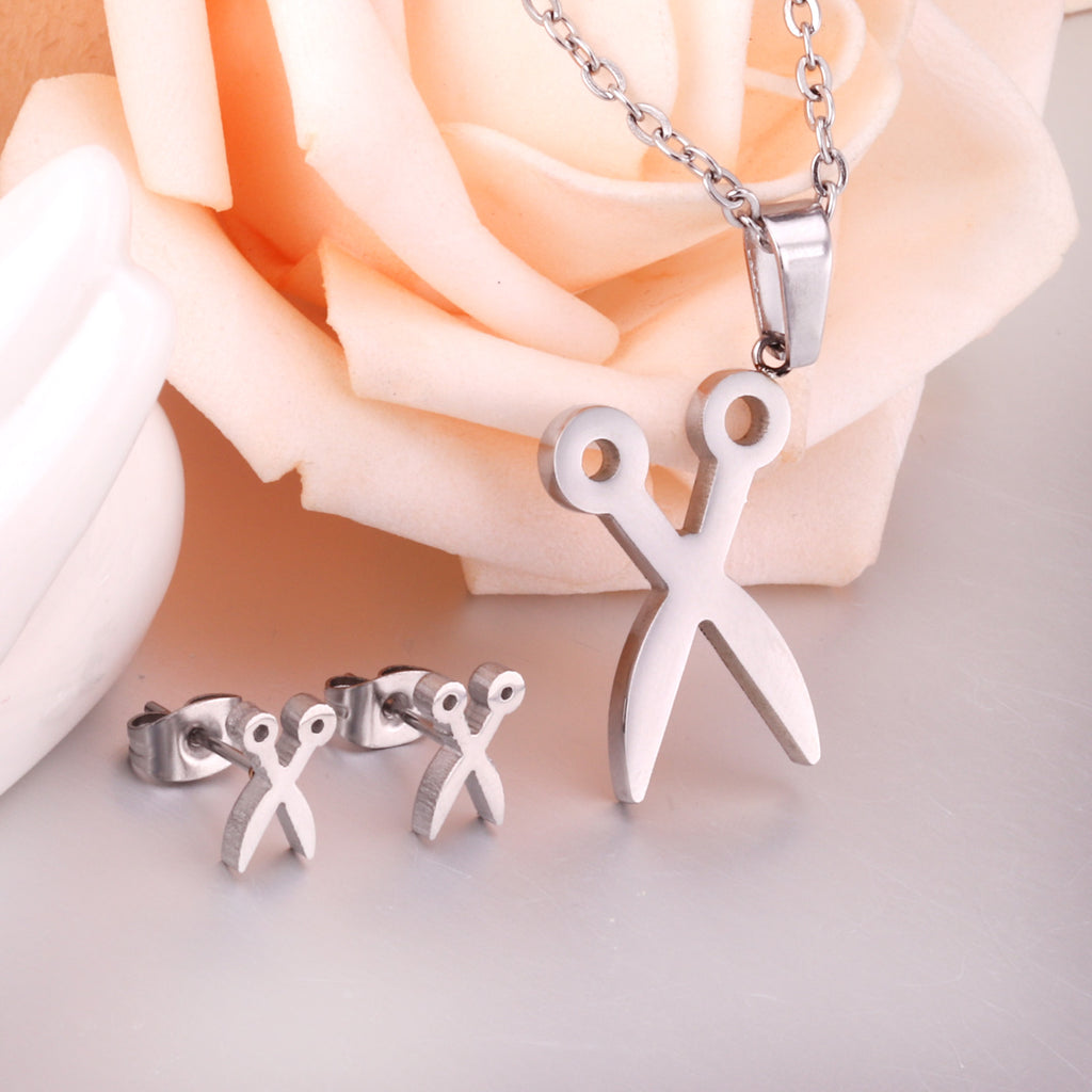Scissor Necklace & Earings