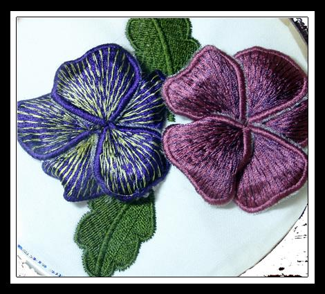 Stumpwork By Machine Embroidery