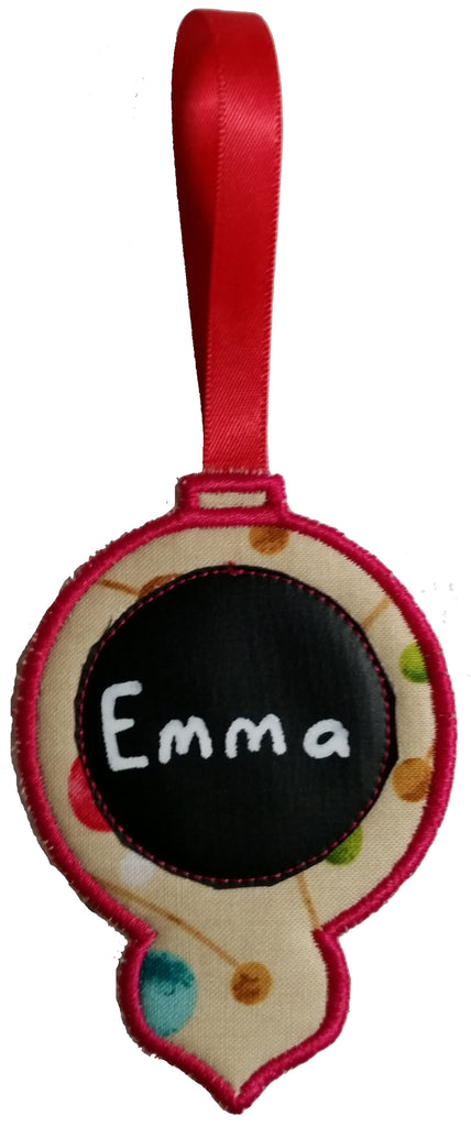 Christmas Nameplate Baubles