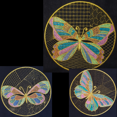 Butterfly Circles Quilted Mini Collection