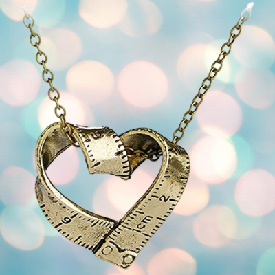 Tape Measure Necklace