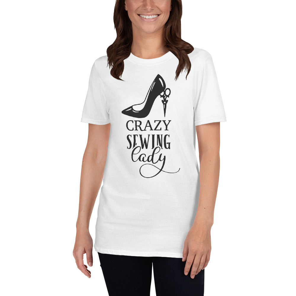 T-shirt - Crazy Sewing Lady