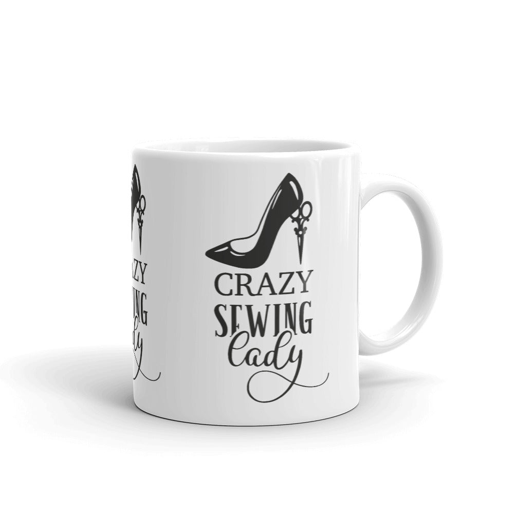 Mug - Crazy Sewing Lady