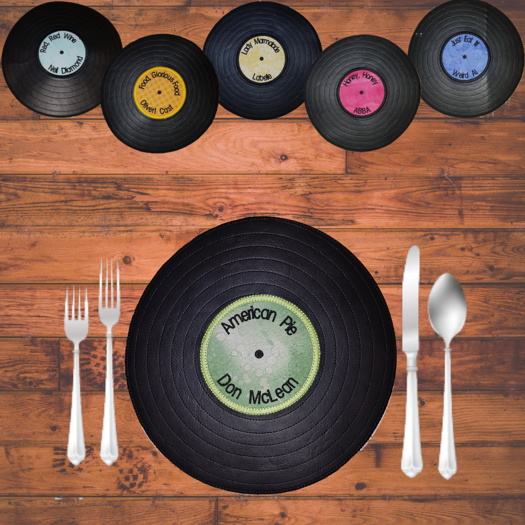 In The Hoop Vinyl Record Placemat