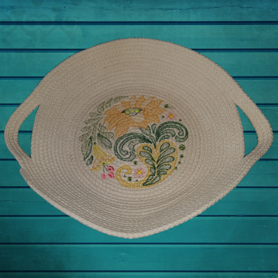 Embroidered Rope Basket Mini Collection