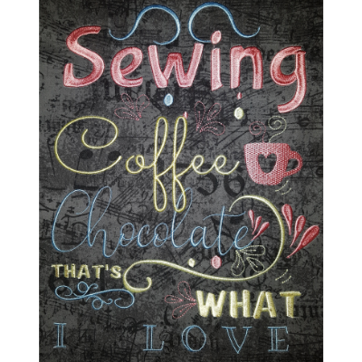 Crafting Coffee & Chocolate Wallhanging