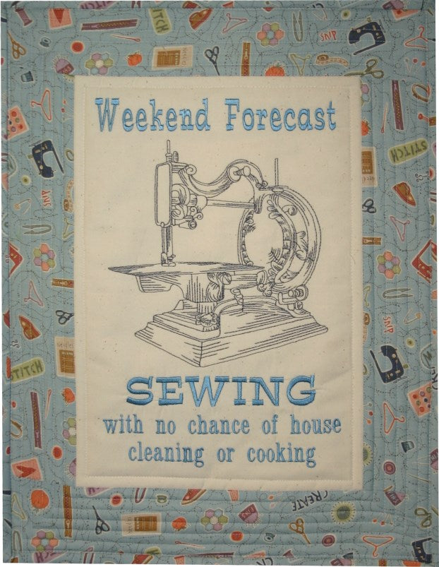 Sewing Forecast Wallhanging