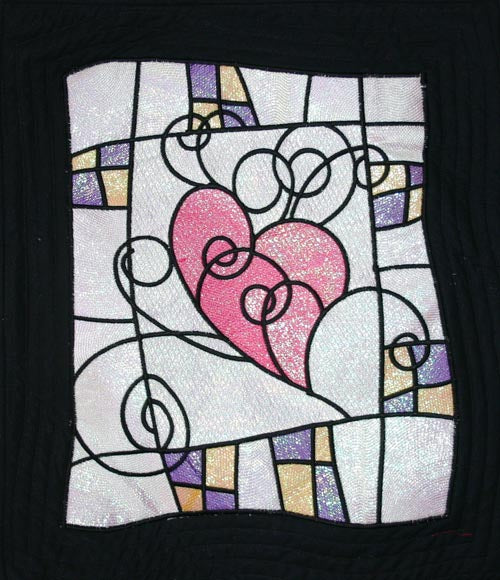 All That Glitters - Stained Glass Heart