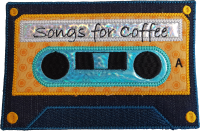 In The Hoop Cassette Placemat and Mug Rug