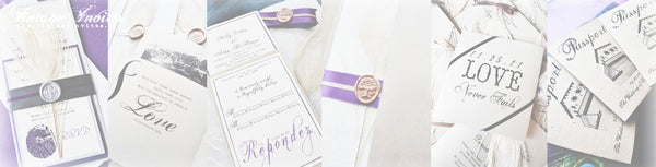 vintage inspired wedding stationery