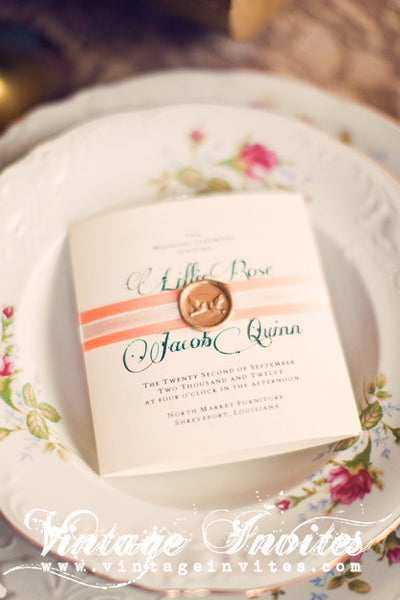 The Lillie Wedding Programs