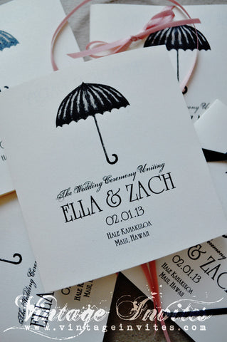 The Ella Art Deco Wedding Programs