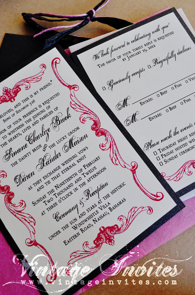 The Simone Victorian Vintage Wedding Invitation