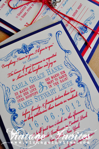 The Carla Victorian Circus Vintage Wedding Invitation