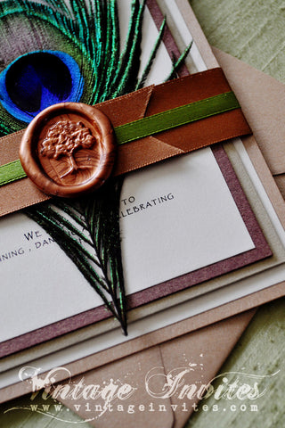 The Mary Autumn Tree Wedding Invitation